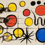 Alexander Calder, Lone Blue, 1966, gouache on paper, 22 1/2 x 30 inches