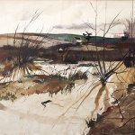 Adrew Wyeth, Early Settlers Home, 1952, watercolor, 21 x 29 inches