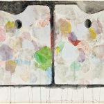 Jim Dine, 2 Palettes, 1963, watercolor on paper, 20 x 24 1/2 inches